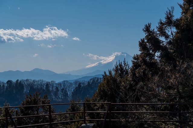 富士山@大岳山荘跡の展望台