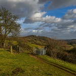 17. Jaanuar 2018 - 14:24 - Looking through the gate towards St Martha's Hill, near Guildford in Surrey..home turf.