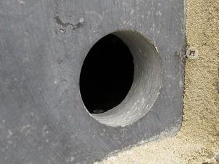Detail invliegopening Stevenskerktoren