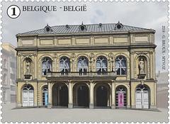 13 PLACES DE NAMUR timbre E théâtre