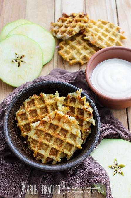 яблочные вафли