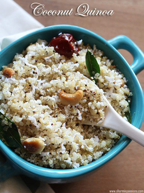 Coconut quinoa recipe south indian style coconut quinoa for Quinoa recipes indian