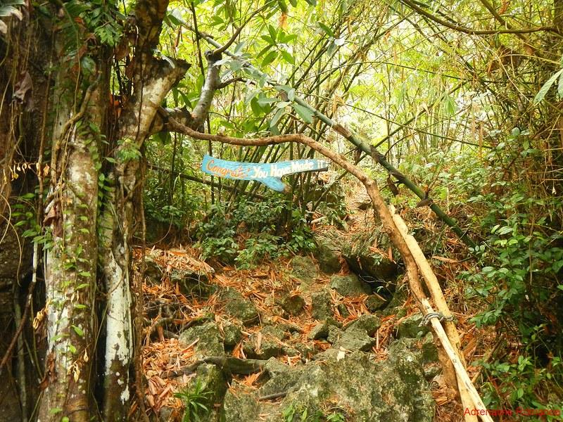 Bakwitan Cave exit