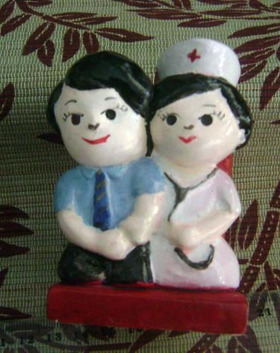 souvenir gypsum tempat pensil perawat