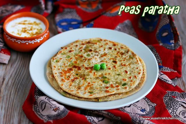Peas-paratha recipe