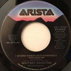 WHITNEY HOUSTON:I WANNA DANCE WITH SOMBODY(LABEL SIDE-A)