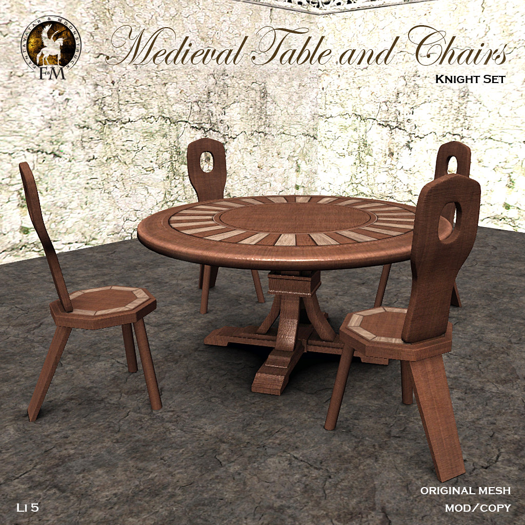 F&M * Medieval Table and Chairs - TeleportHub.com Live!