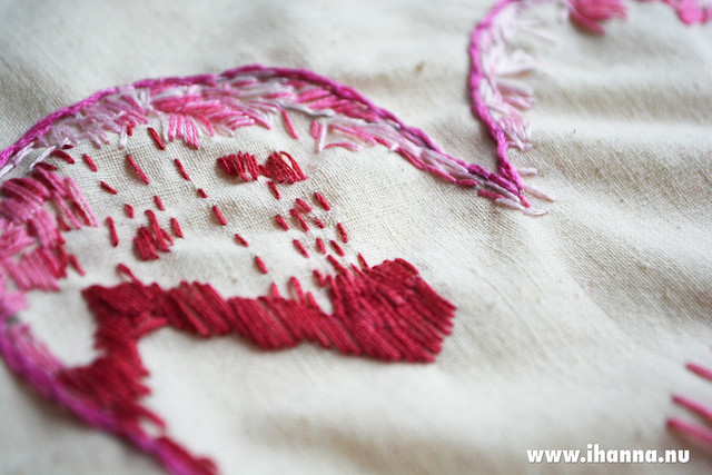 Start of a Embroidered Heart by iHanna #embroidery #stitchwithheart