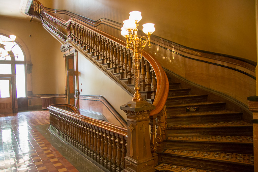 Stairways at the Iowa State Capitol Building