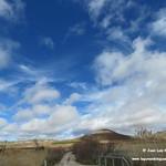 Paisaje de las lagunas de La Guardia (Toledo) con lluvia. 4-3-2018
