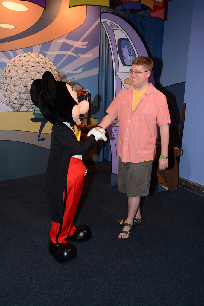Ken greeting Mickey Mouse