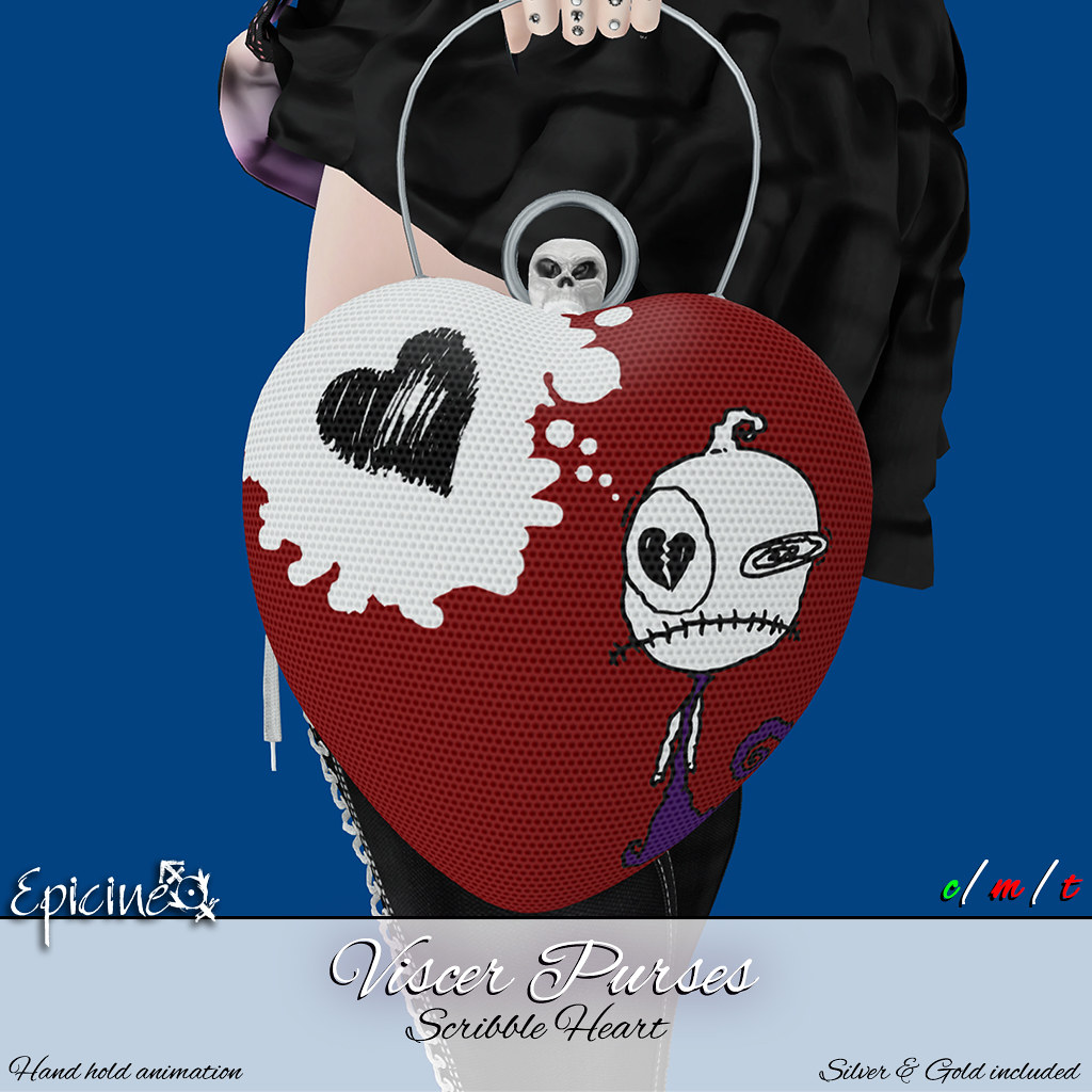 Epicine – Viscer Purse – Scribble Heart