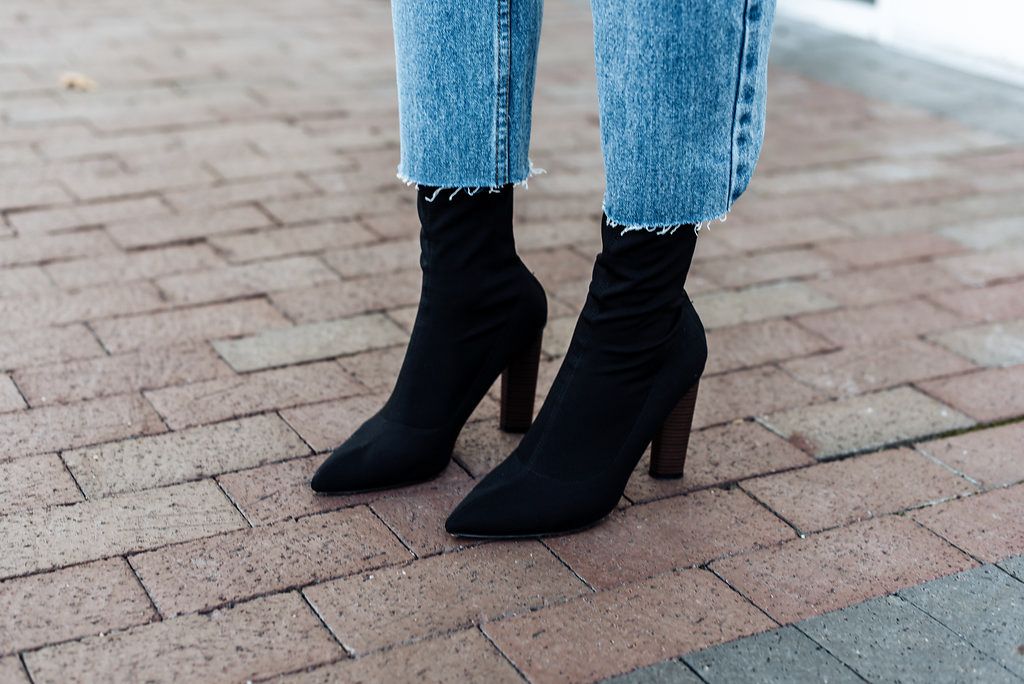 how to wear sock boots with jeans