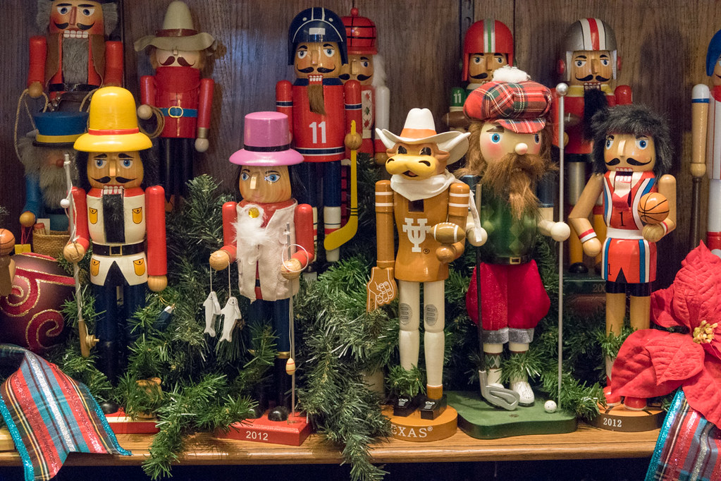 Christmas Nutcrackers at Dallas Botanical Gardens