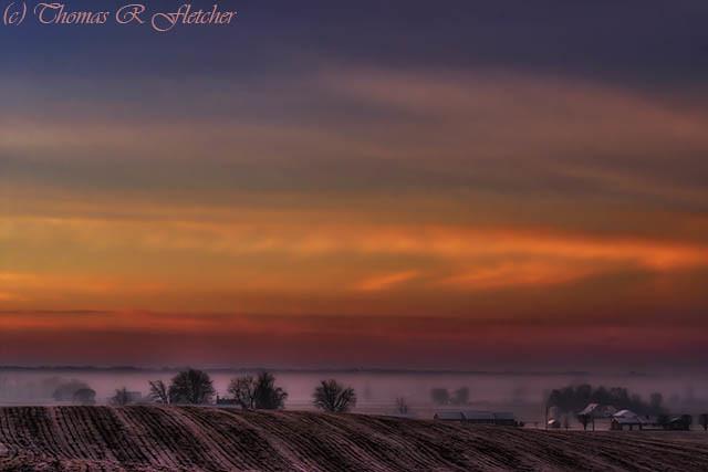 Morning Glow Indiana Farm