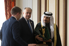 Встреча В. Матвиенко с заместителем Председателя Консультативного совета Королевства Саудовская Аравия Яхъей Абдуллой Ас-Самааном