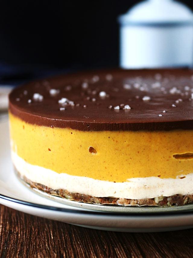 純素巧克力南瓜乳酪蛋糕 vegan-chocolate-pumpkin-cheesecake (3)