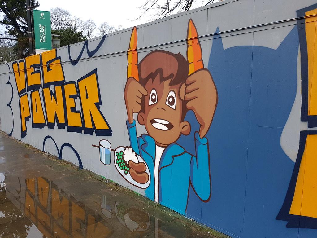Veg power street art, Cardiff
