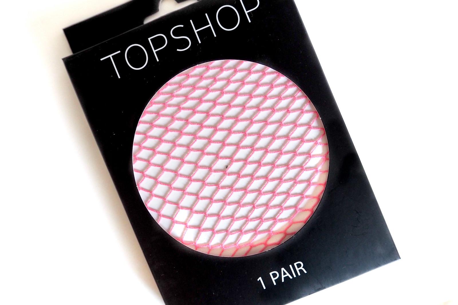 Pinkit verkkosukkahousut Topshop