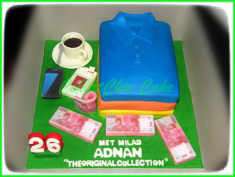 Cake Kaos Polo ADNAN 15 cm