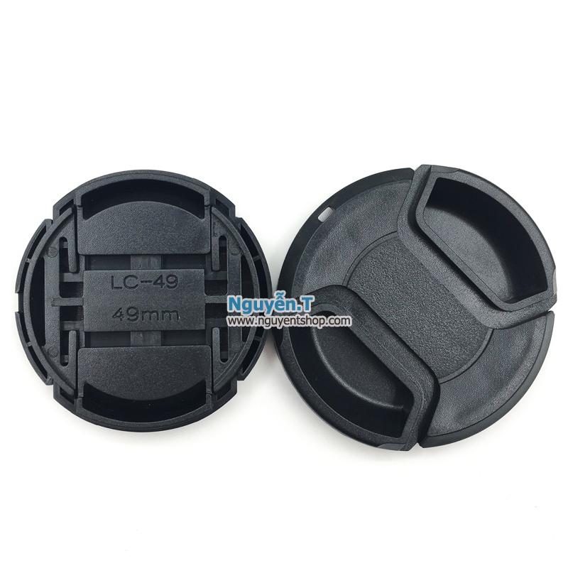 Lens cap nắp đậy bảo vệ ống kính máy ảnh phi 49mm