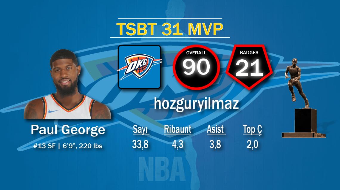 31. Sezon MVP