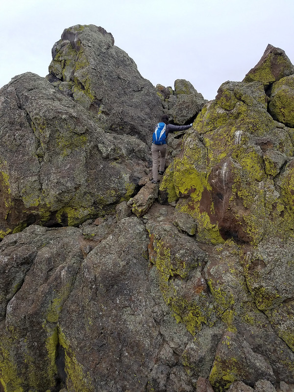 Carrie scrambling the final section