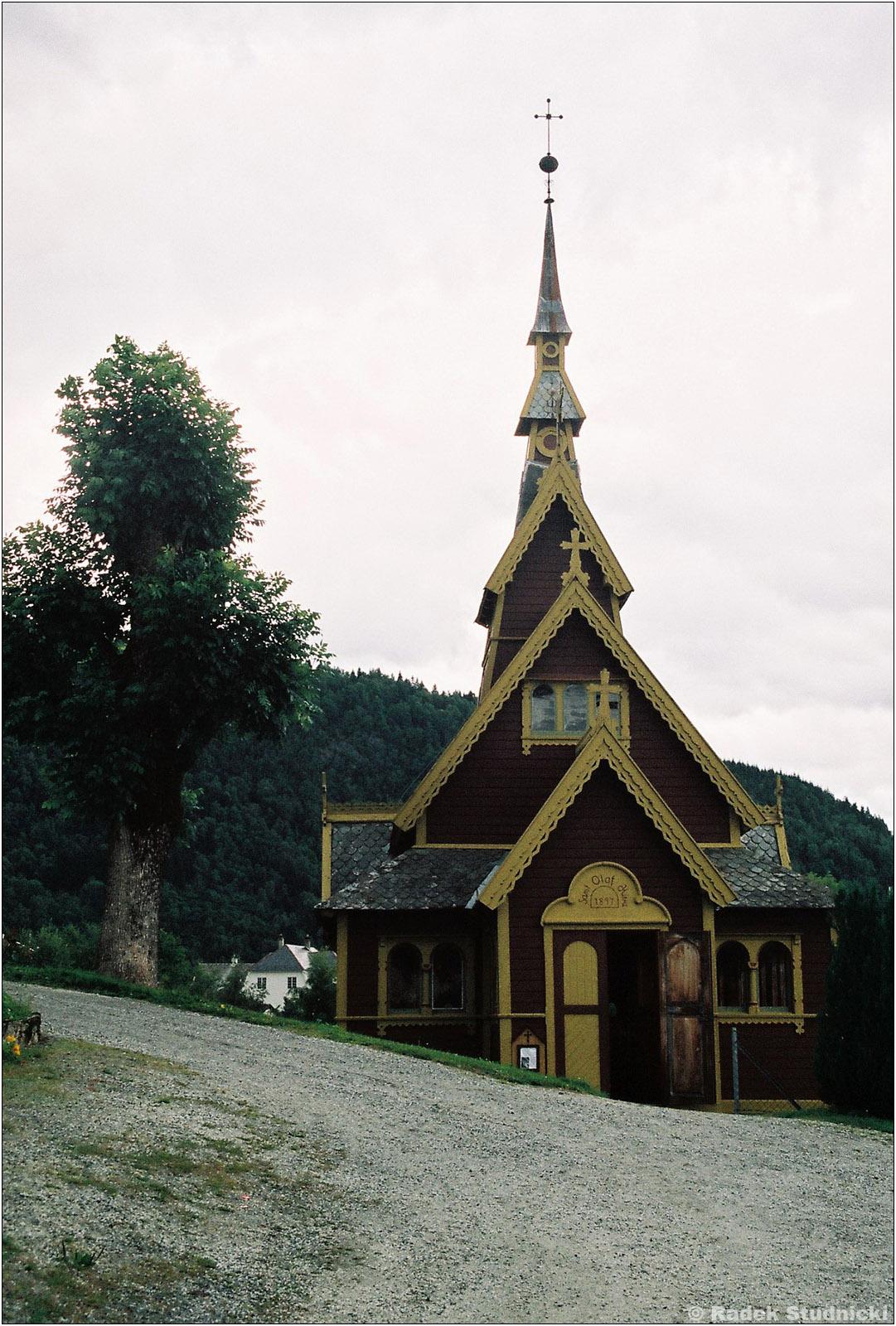 Drewniany kościółek w Balestrand