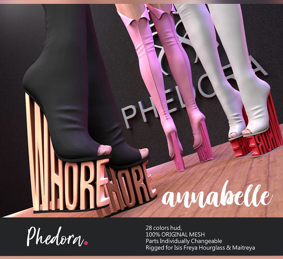"Phedora. for Fetish Fair – 2018 powered by WeDo SL Events- ""Annabelle"" boots"