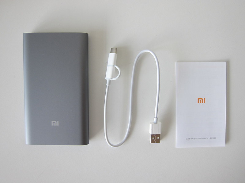 Xiaomi Mi 10,000mAh Power Bank Pro - Box Contents