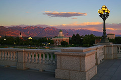 Wonderful view from Capitol Hill at sunset, Salt Lake City
