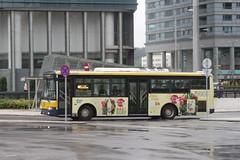 Transmac bus arrives at the Praça de Ferreira do Amaral bus interchange