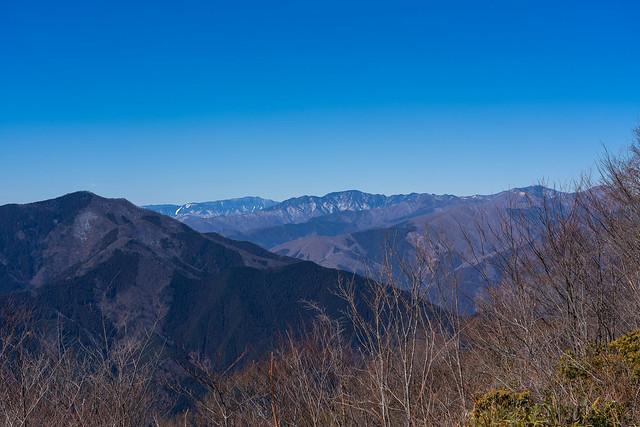 国師ヶ岳、飛龍山、雲取山@大岳山