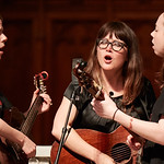 Tue, 20/02/2018 - 1:50pm - The trio of Sara Watkins, Sarah Jarosz and Aoife O'Donovan play for WFUV listeners at the Fordham University Church in NYC, 2/20/18. Hosted by John Platt. Photo by Gus Philippas/WFUV