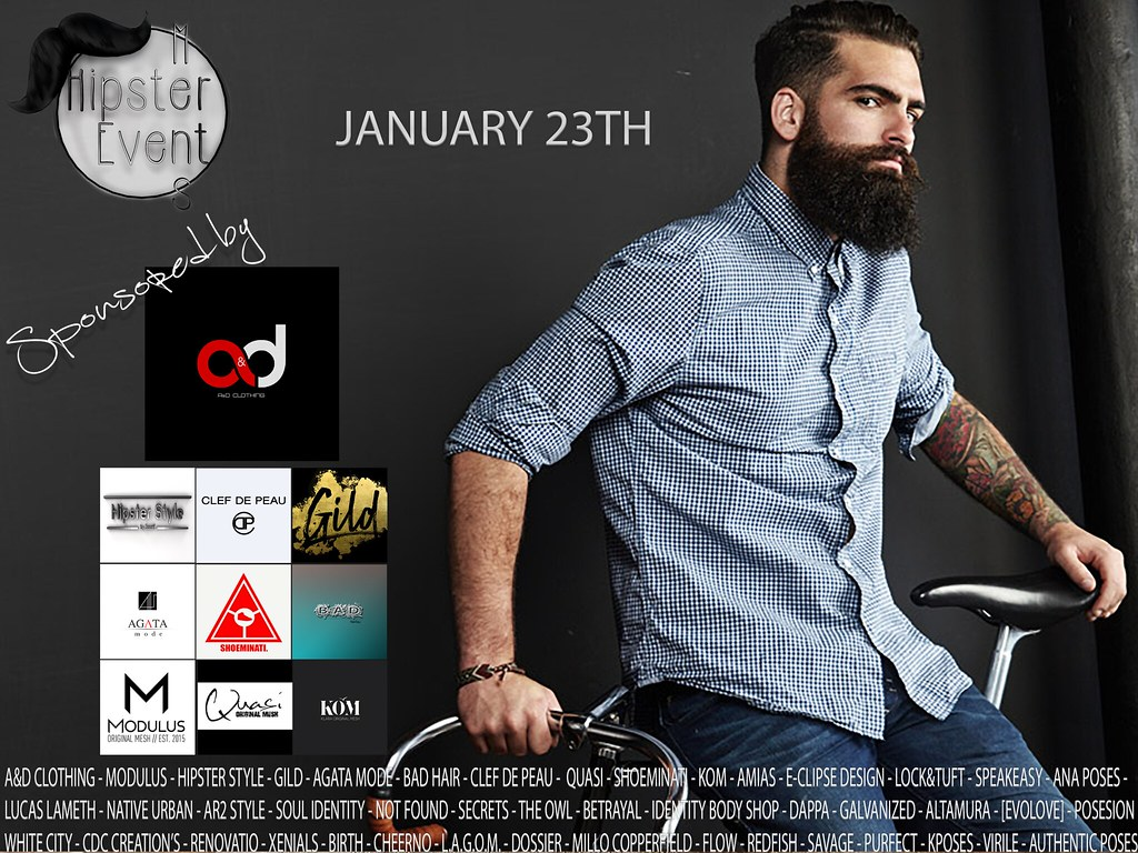 Hipster Men Event JANUARY ROUND