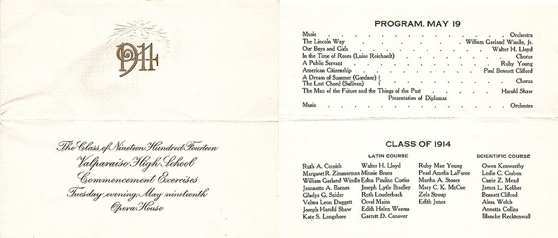 Casbon Les 1914 HS graduation program