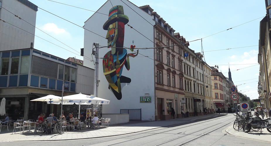 Travel guide to Heidelberg, Germany. Street art in Heidelberg, Germany | Mooistestedentrips.nl