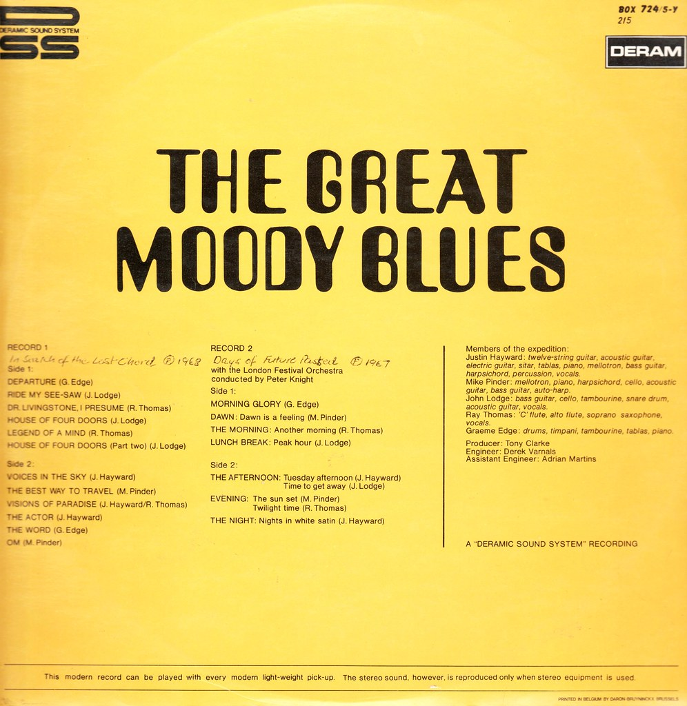 16 - Moody Blues, The - The Great    - Belgium - 1970- | Flickr