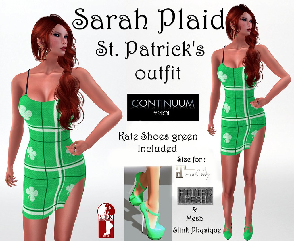 Continuum St. Patrick day's complete outfit : Sarah Plaid
