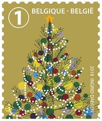 19a Noël Belgique timbre