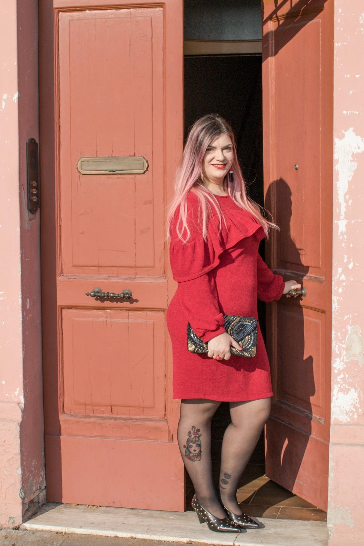 Outfit plus size per san valentino, rosso e nero (7)