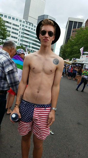 My partner at the Denver Pride Festival