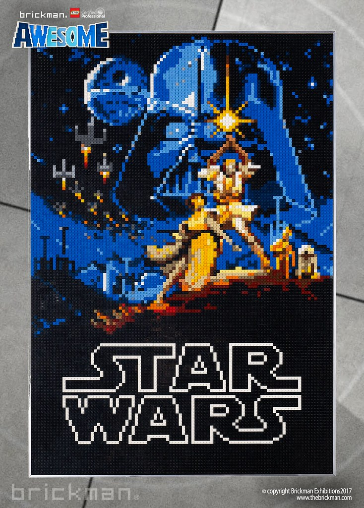 LEGO® brick Star Wars 1977 movie poster