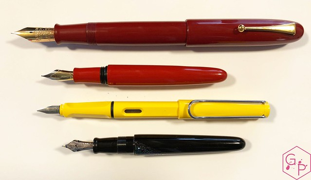 Review @Wancher Red Urushi Ebonite Fountain Pen 5