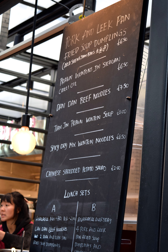 Dumpling Shack Menu from The Kitchen at Old Spitalfields Market #dumplingshack #streetfood #london #spitalfields