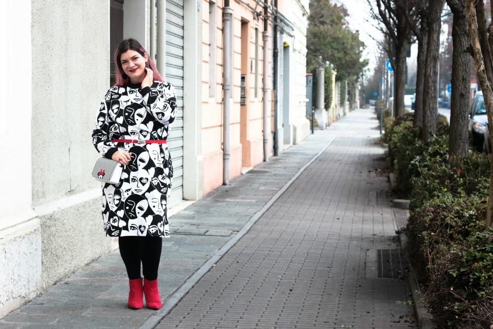 Outfit plus size monki, bianco rosso e nero (3)