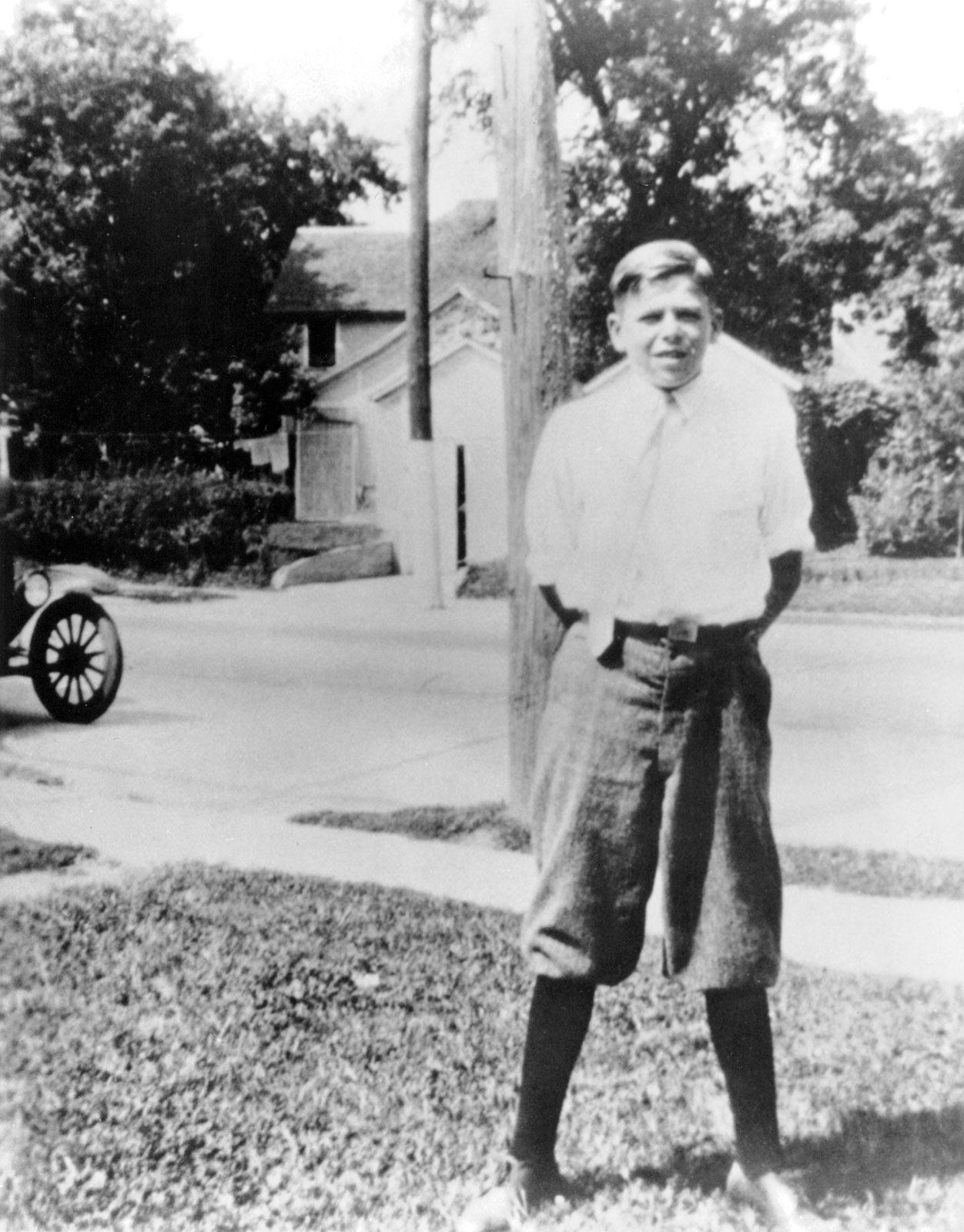 Ronald Reagan in Dixon, Illinois, 1922.