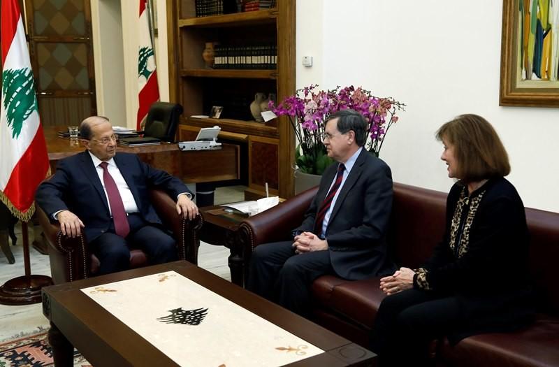 عون ابلغ ساترفيلد موقف لبنان من الاعتداءات الاسرائيلية على حدوده ومياهه%0A