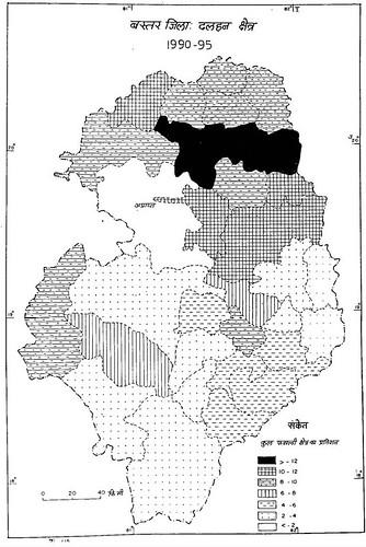 बस्तर जिला तिलहन क्षेत्र