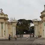 Entrance to the Rome Zoo - Rome 2018 - Pincian Hill and Gardens - https://www.flickr.com/people/21343347@N03/
